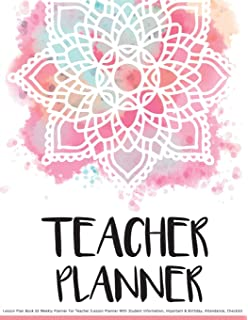 teacher planner teaching plan book attendance list student
