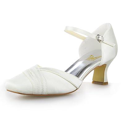 XZGC La Mode Chaussures pour Femmes Avec Talon Carré Pearl Casual Chaussures de Talon, 35 EU, Noir