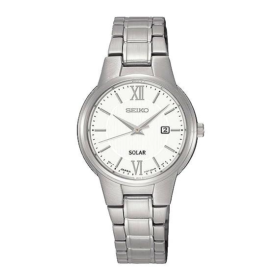 Reloj Seiko Solar Sut227p1 Mujer Blanco