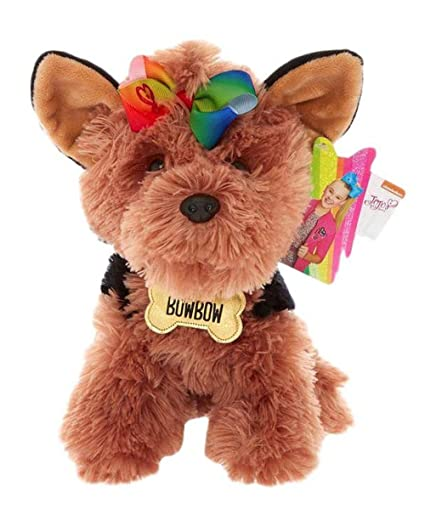 Amazon Com Jojo Siwa Bow Bow The Dog Plush Toy Claire S Exclusive