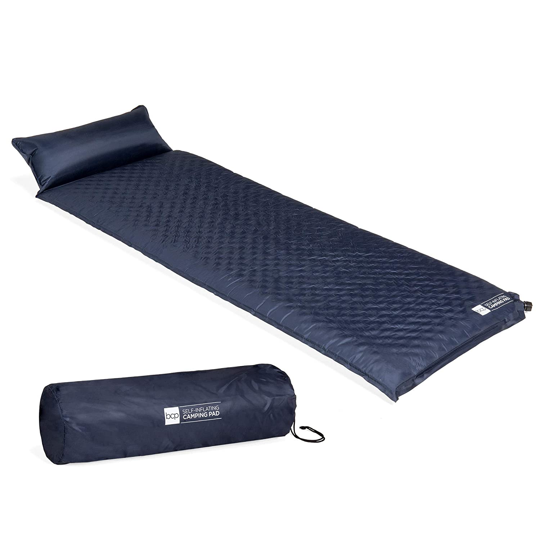 Best Choice Products 軽量 耐候性 自己膨張 タフテッド キャンプ 睡眠パッド 枕付き キャリーケース B07JP48VY1