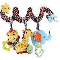 Jouet de Poussette Berceau Infantile Bébé Activité Spirale Lit Singe Éléphant Peluche Jouet