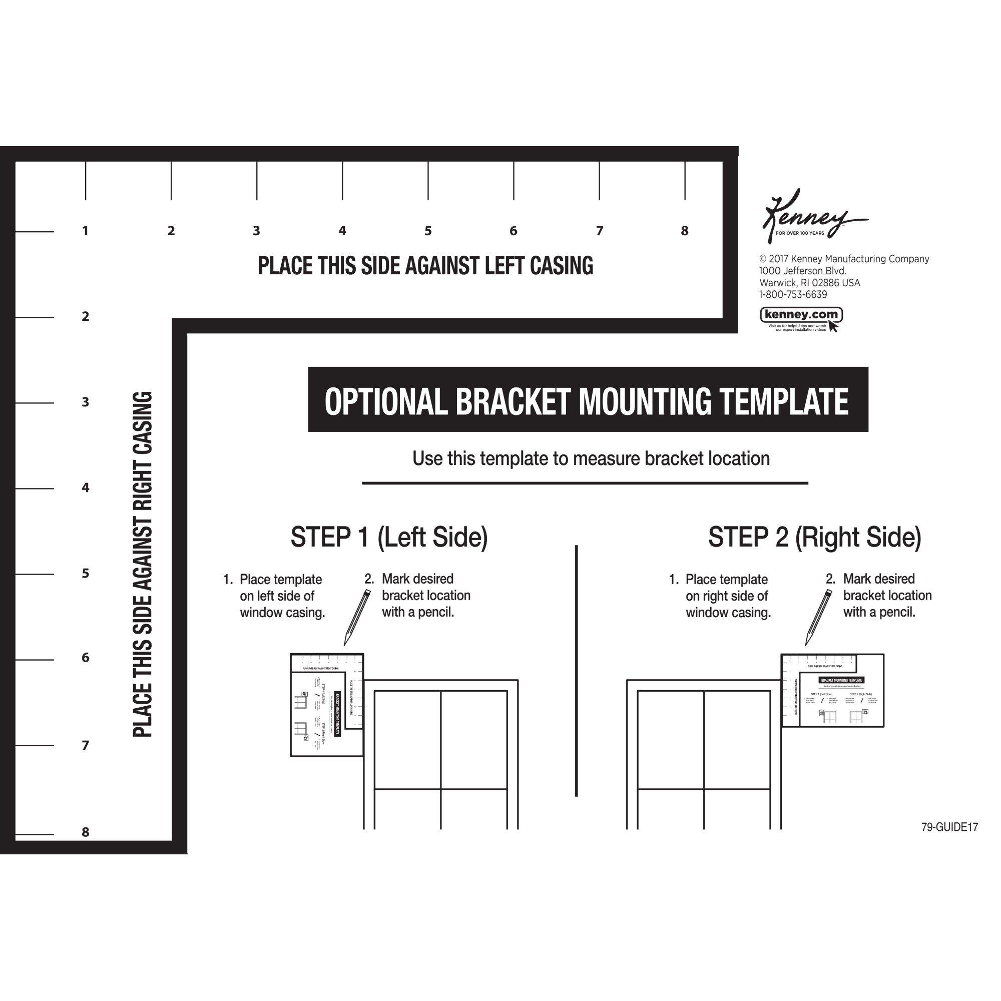 Kenney Glendale Standard Decorative Window Curtain Rod, 48-86'', Black by Kenney (Image #3)