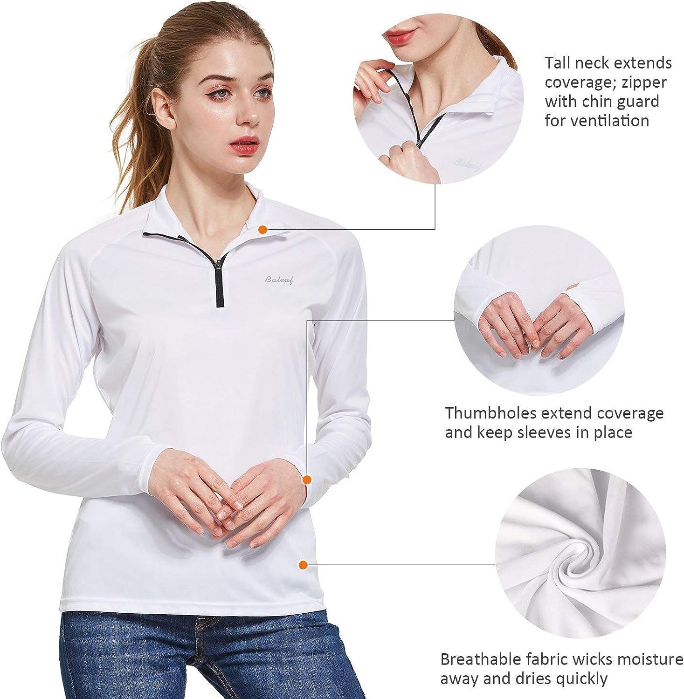 BALEAF Womens UPF 50 Sun Protection T-Shirt SPF Long//Short Sleeve Dri Fit Lightweight Shirt Outdoor Hiking