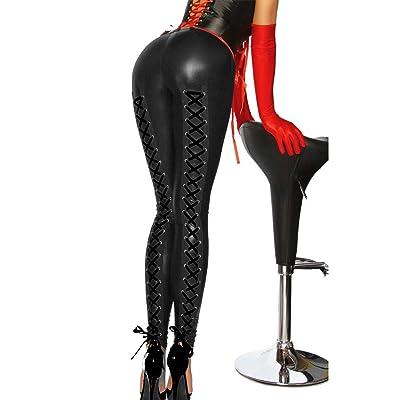 Unbekannt - Leggings - para mujer Negro Negro S: Ropa y accesorios