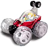 Large RC Rolling Stunt Car Turbo Twister Radio Control Spin Truck with Color flash & Music switch (Color may vary) by Poco Divo