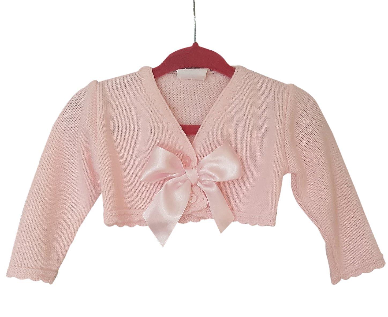 f4b18d202 angelkids Newborn Baby Girls Spanish Style Bow Cardigan Bolero ...