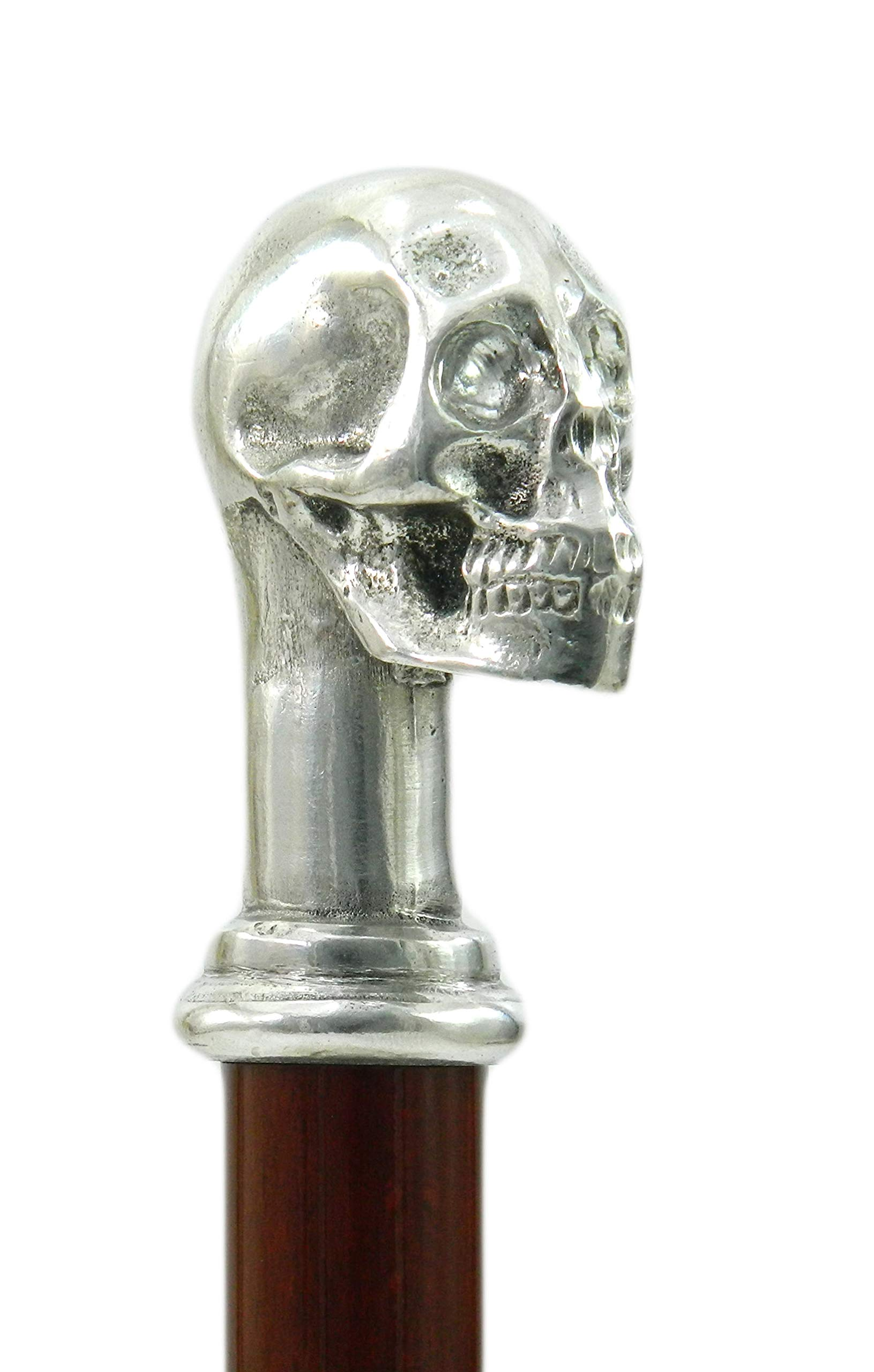 Walking Canes Skull Cane Metal Wooden Ornament for Women For Men Gift Cavagnini Vintage Old People Personalized Made in italy by Cavagnini - HandMade Italy