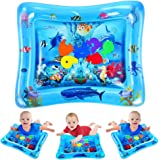 VATOS Tummy Time Water Mat, Baby Toys for 3 6 9 Months, The Perfect Tummy Time Toy for Infant Early Development Activity Centers| BPA Free Splashing Water Play Mat Promotes Visual Stimulation
