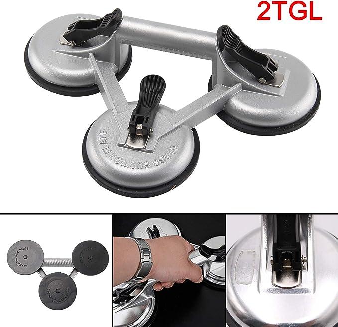 allright 2 Stk. Ventosa aspirador goma Cristal Aluminio vacío Heber maX. 150kg gris: Amazon.es: Bricolaje y herramientas