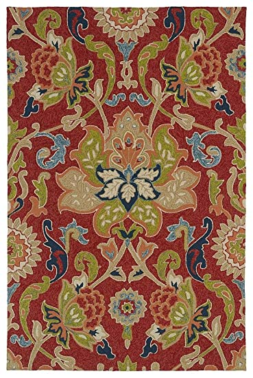 Kaleen Rugs Home Porch Indoor Outdoor Rug Red 5 X 7 6