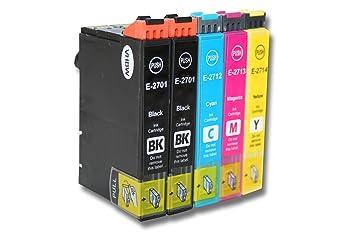 Set x 5 vhbw Cartuchos de Tinta, Cartuchos para Impresora para ...