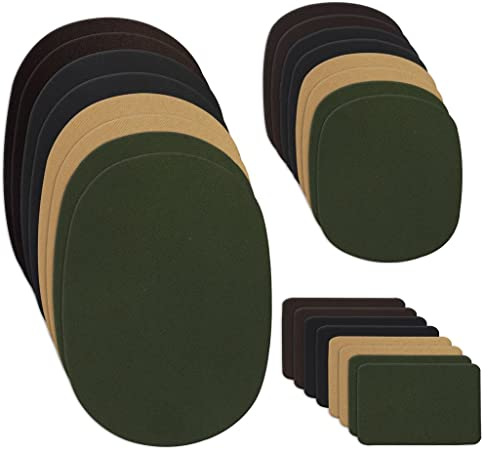 LARGE /& SMALL GREEN//BROWN//BLACK WAX COTTON PATCHES IDEAL REPAIRS//TROUSERS//JACKET