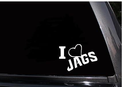 270ab120 Amazon.com: I Love Jaguars Decal (Auto) Heart Jacksonville Jaguars ...
