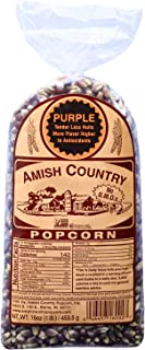 product image for Amish Country Popcorn | 1 lb Bag | Purple Popcorn Kernels | Old Fashioned with Recipe Guide (Purple - 1 lb Bag)