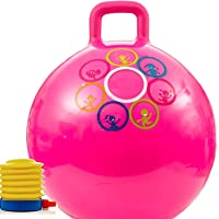 Jumix Hopping Bouncing Inflatable Hop Ball Toys for Children, Kids (Assorted Color Design) ( Multi-Color )