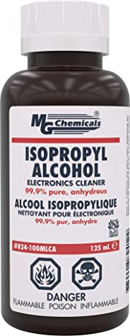MG Chemicals 99.9% Isopropyl Alcohol Liquid Cleaner, Clear, 125 mL Bottle