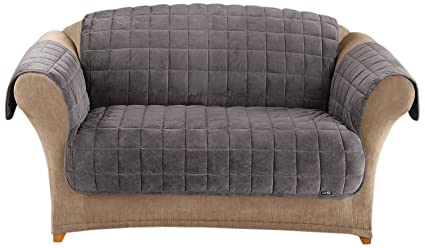Surefit Deluxe Sofa Furniture Cover (with arms) - Dark Gray