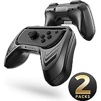 Mumba Grip for Nintendo Switch Joy-Con, 2-Pack Switch Controller Grip Handle Kit for Nintendo Switch Joy-Con (Black)