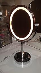Amazon Com Conair Oval Double Sided Lighted Mirror