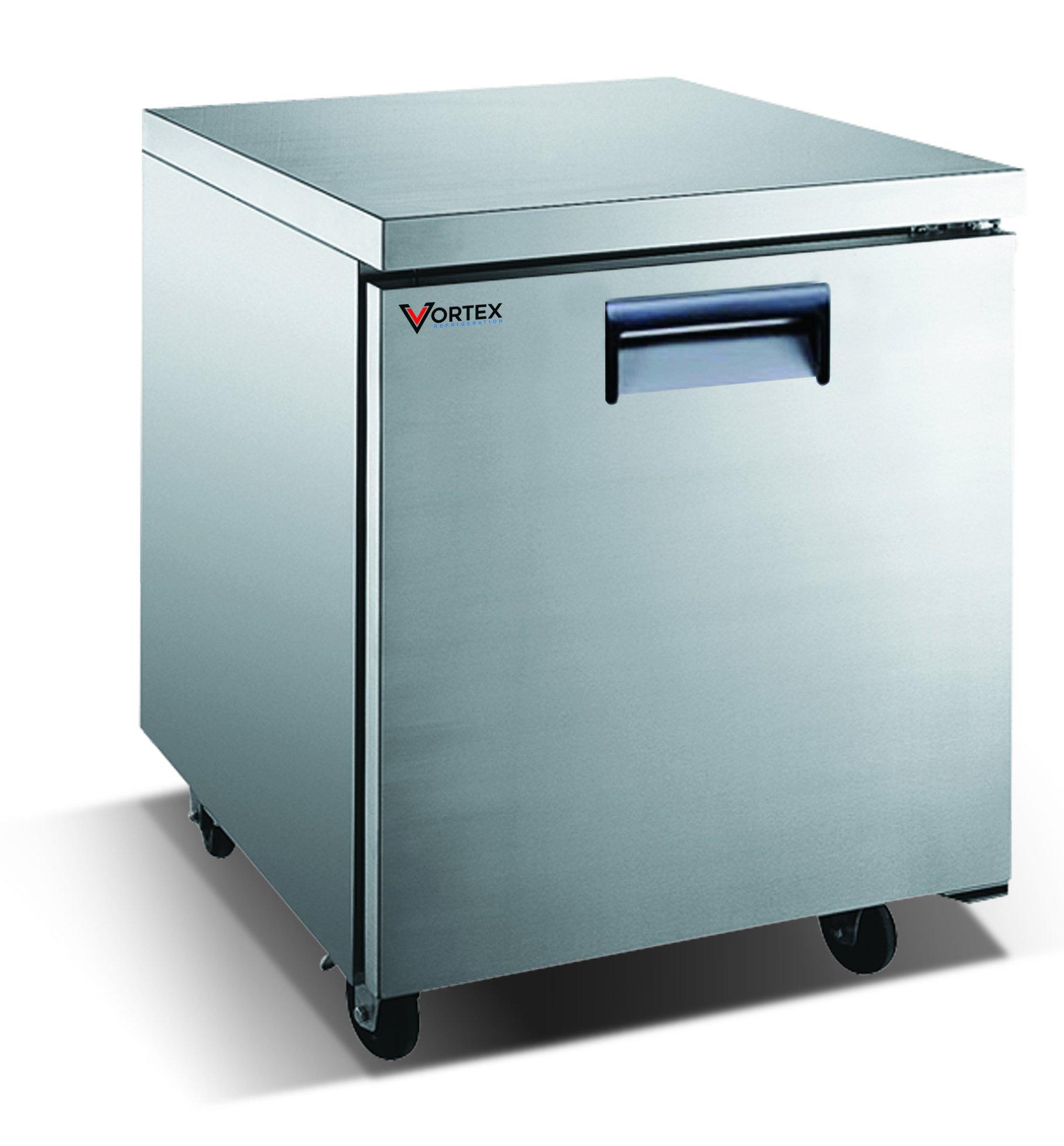Vortex Refrigeration Commercial 1 Door 27'' Under Counter Refrigerator - 6.25 Cu. Ft. by Vortex Refrigeration
