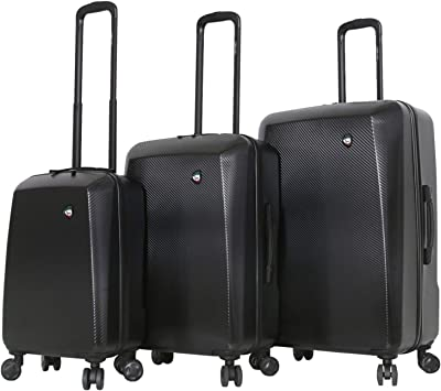 Silver Mia Toro Italy Torino Hard Side Spinner Luggage 3 Piece Set