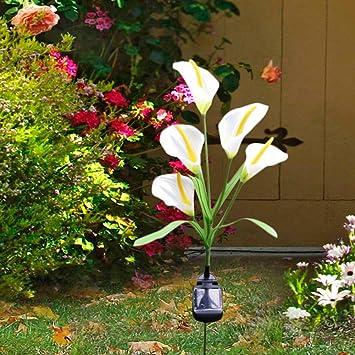 Solar Lamps Lights & Lighting Outdoor Solar Powered Led Horseshoe Flower Light Waterproof 5 Led Lamp For Yard Garden Path Way Landscape Decorative Night Lamp