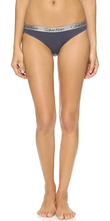 Braguitas estilo bikini para mujer, de Calvin Klein Grey/White/Black Medium: Amazon.es: Ropa y accesorios