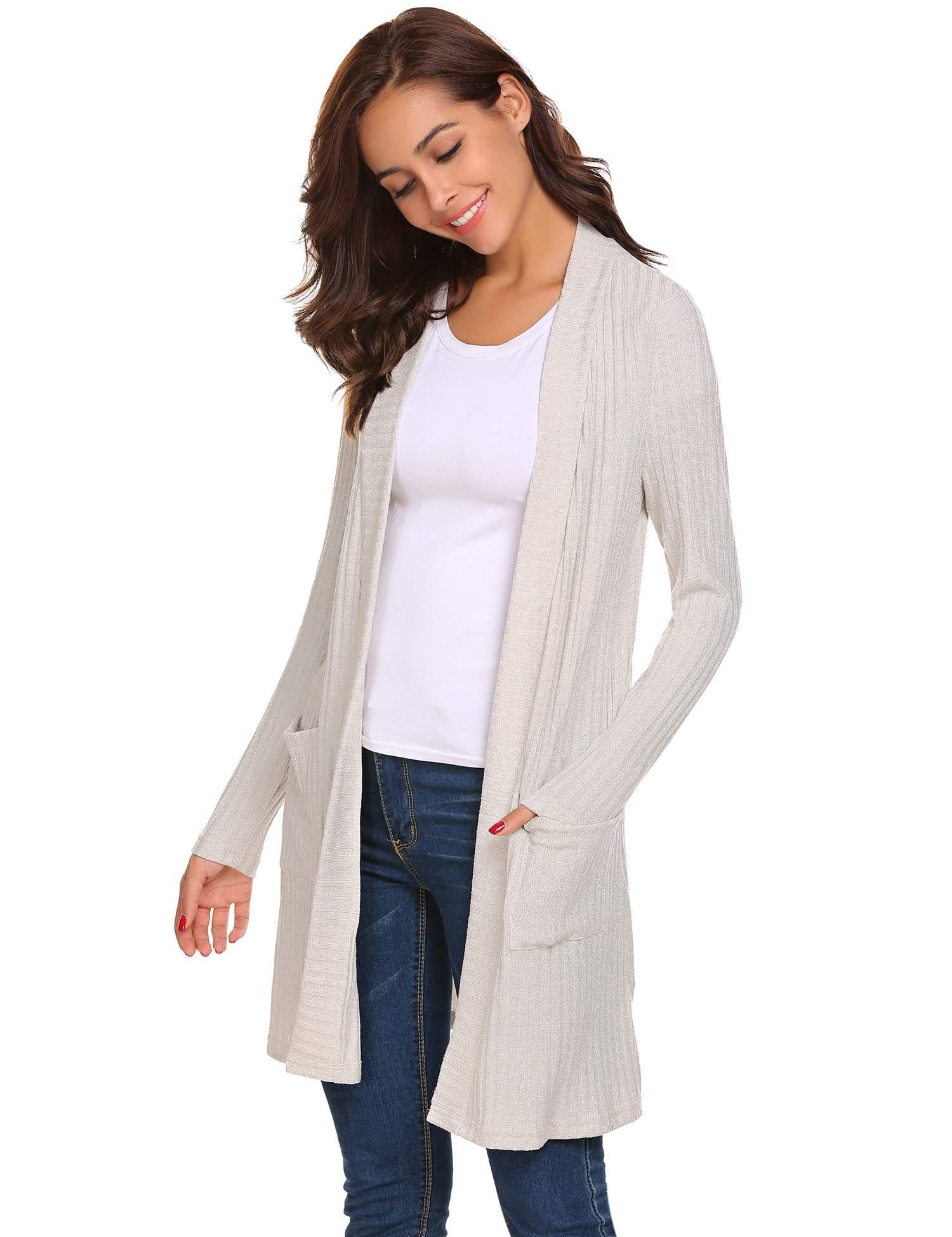 Womens Red Long Sleeve Open Front Drape Wrap Travel Sweater Cardigan Grey XXL