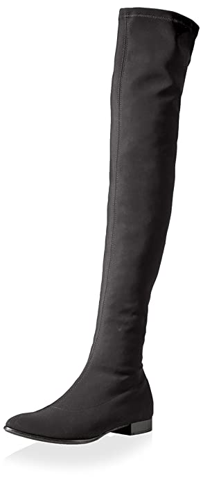 Amazon.com | Le Babe Women's Over The Knee Flat Stretch Boot ...