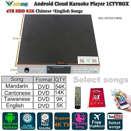 Android Karaoke Machine,Jukebox,4TB 87K Mandarin, Cantonese