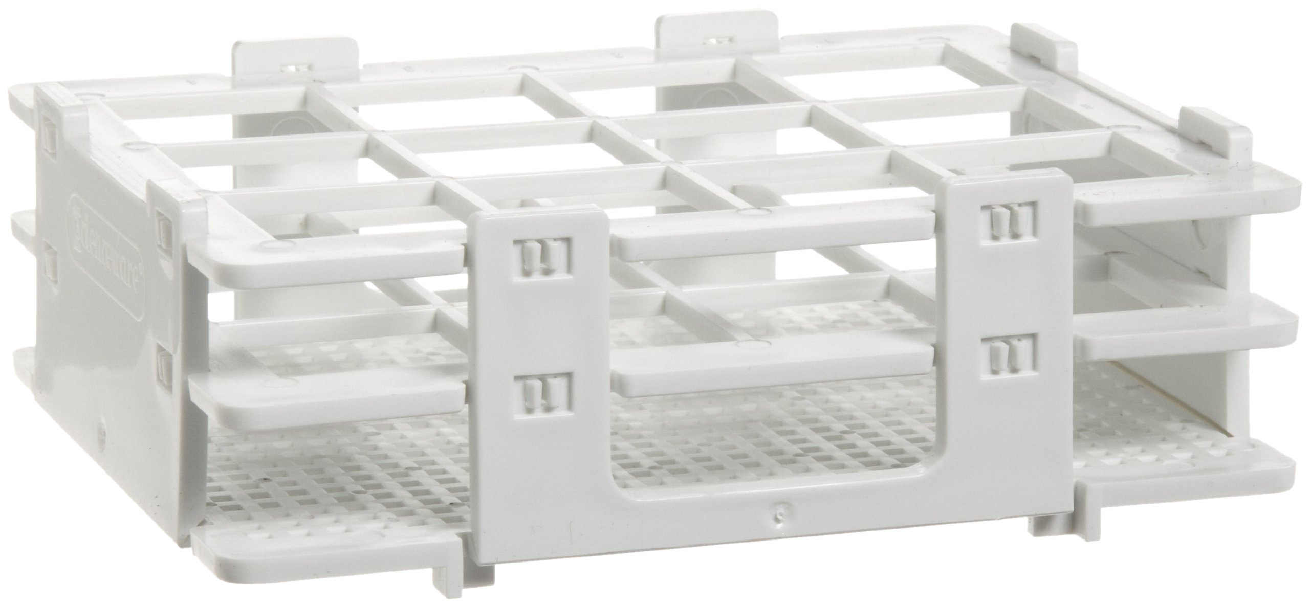 Bel-Art F18514-0025 No-Wire Bottle and Vial Rack; 20-25mm, 12 Places, 5.08 x 4.15 x 1.70 in., Polypropylene by SP Scienceware (Image #1)