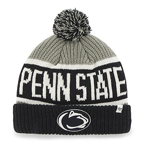 88daefec3 Penn State Nittany Lions Navy Blue and Gray Calgary Knit Hat