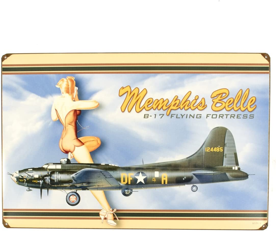 Hand Made in the USA with American Steel A-10 Warthog Satin Metal Sign