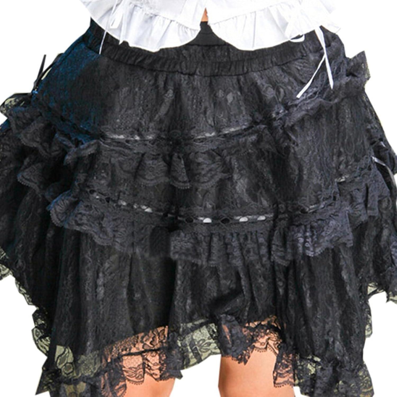 Patiss Damen Frauen Mit Schraeger Abgestuftes Tulle Lolita Rock