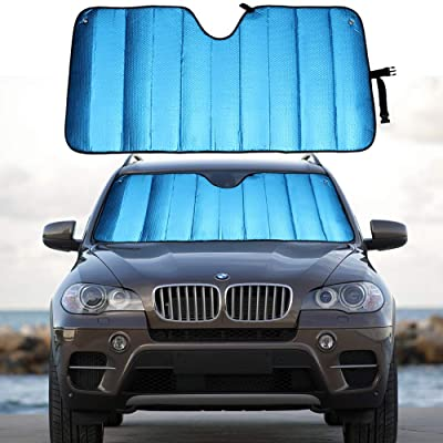 """MCBUTY Windshield Sun Shade for Car Blue Thicken 5-Layer UV Reflector Auto Front Window Sunshade Visor Shield Cover and Keep Your Vehicle Cool(55"""" × 27.5""""): Automotive"""
