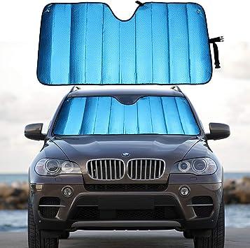 Big Ant Windshield Sun Shade UV Ray Reflector Auto Front Window Sunshade Visor Shield Shade,Keeps Vehicle Cool for Truck SUV-Silver