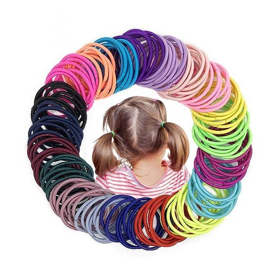 Adjustable Elastic Girl Rubber Hair Ties Bands Rope for Girl Kid 400-500 Pcs YJ