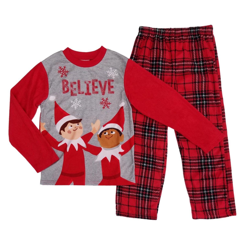 Elf The On The Shelf Boys Believe Christmas Holiday Fleece Sleepwear Pajama Set