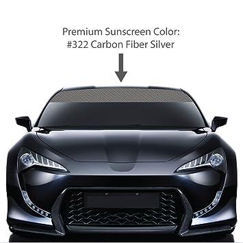 Amazoncom X CARBON FIBER Windshield Visor Sun Screens - Car window decals custom made