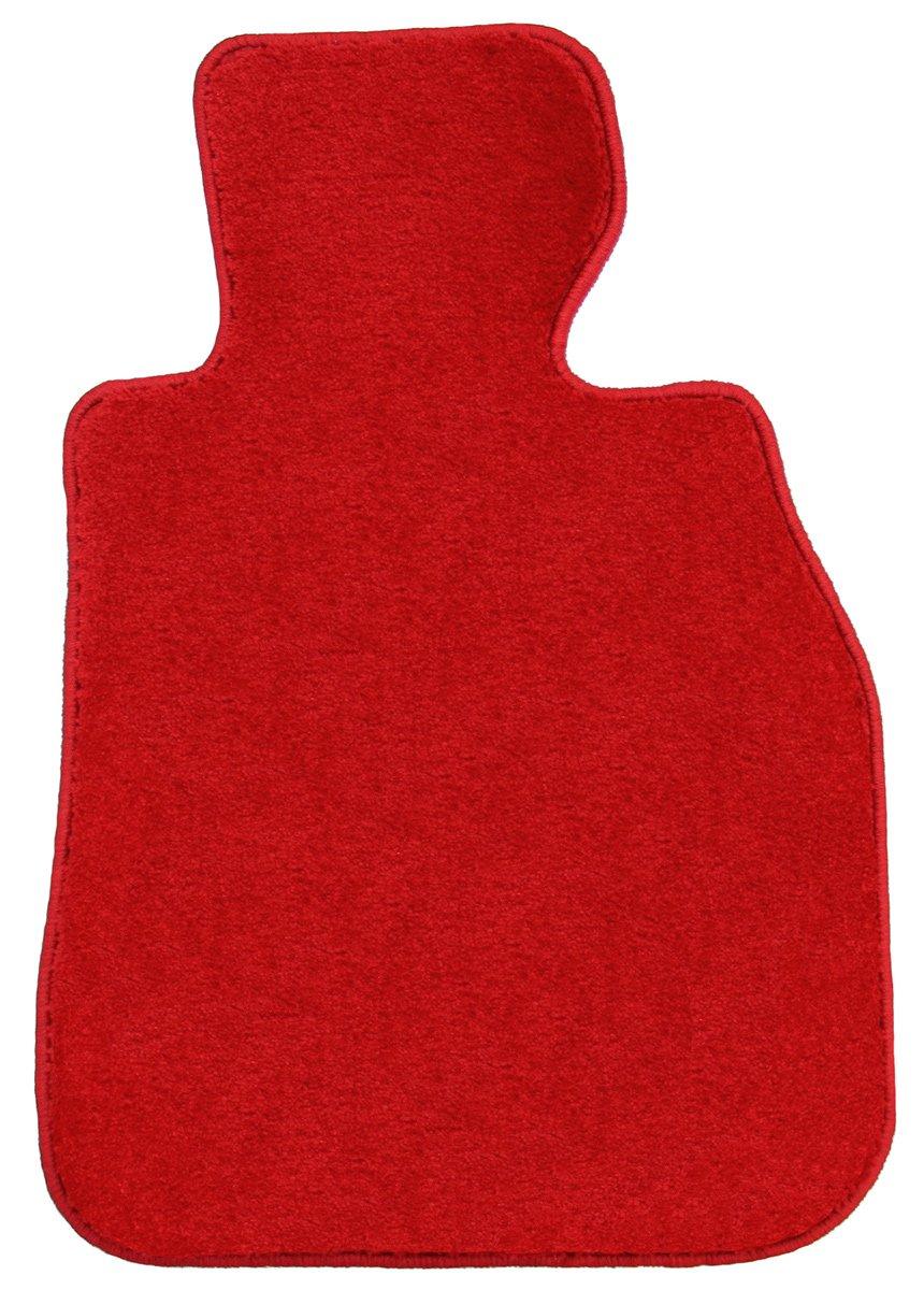 フロアマット ワールドマット(脱臭加工済み) ニッサン シーマ H8/6~H13/1 Y33用 SP1シリーズ レッド ヒールパッド付 B079ZJGK3H