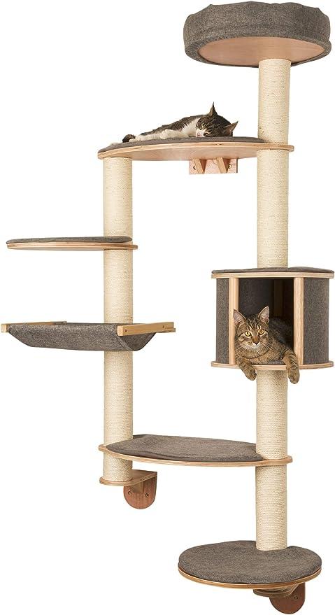 Kerbl Dolomit Tofana Wall Mounted Cat Tree X Large 185 X 115 Cm Grey Amazon Co Uk Pet Supplies