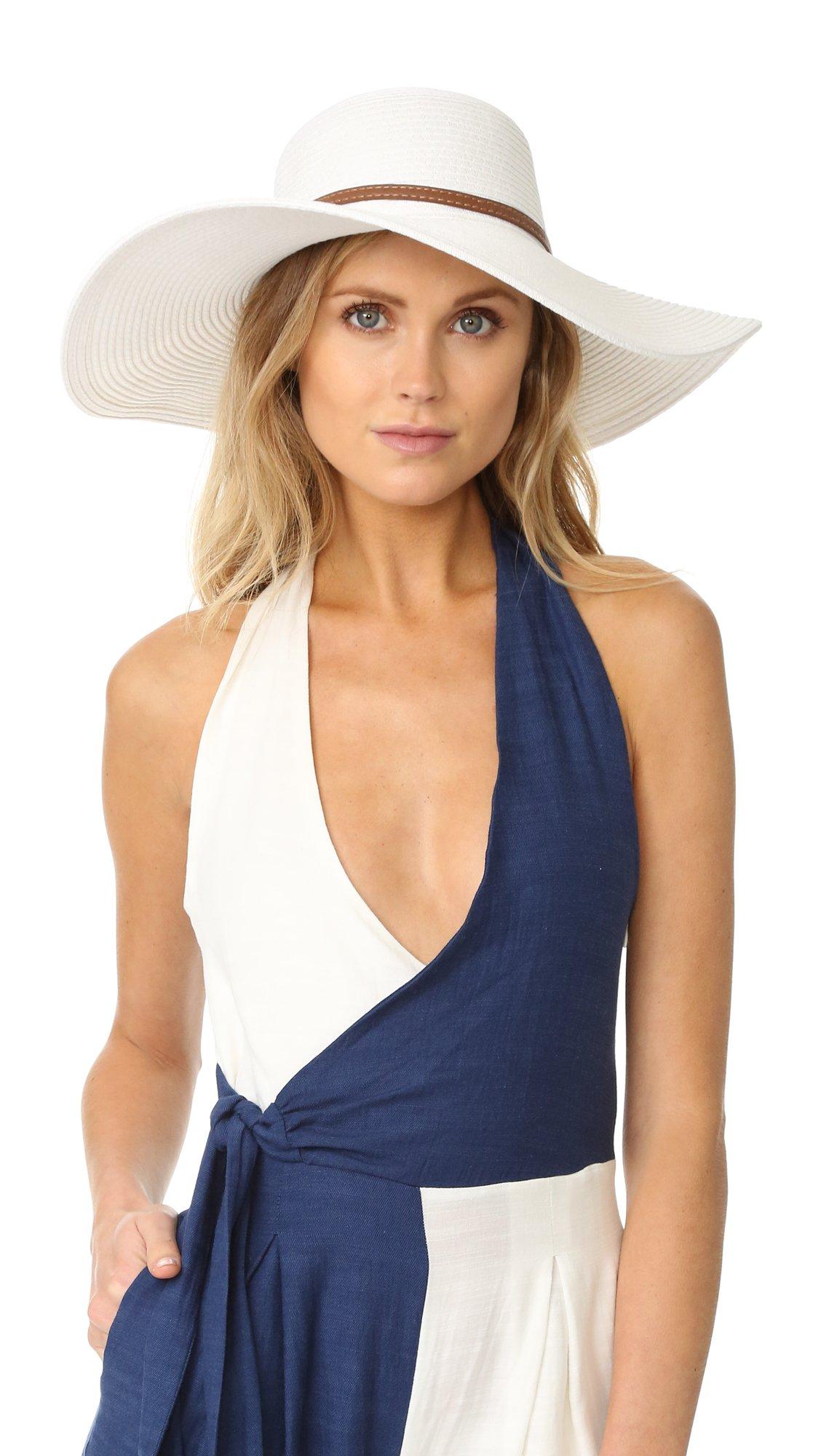 Melissa Odabash Women's Jemima Hat, White, One Size