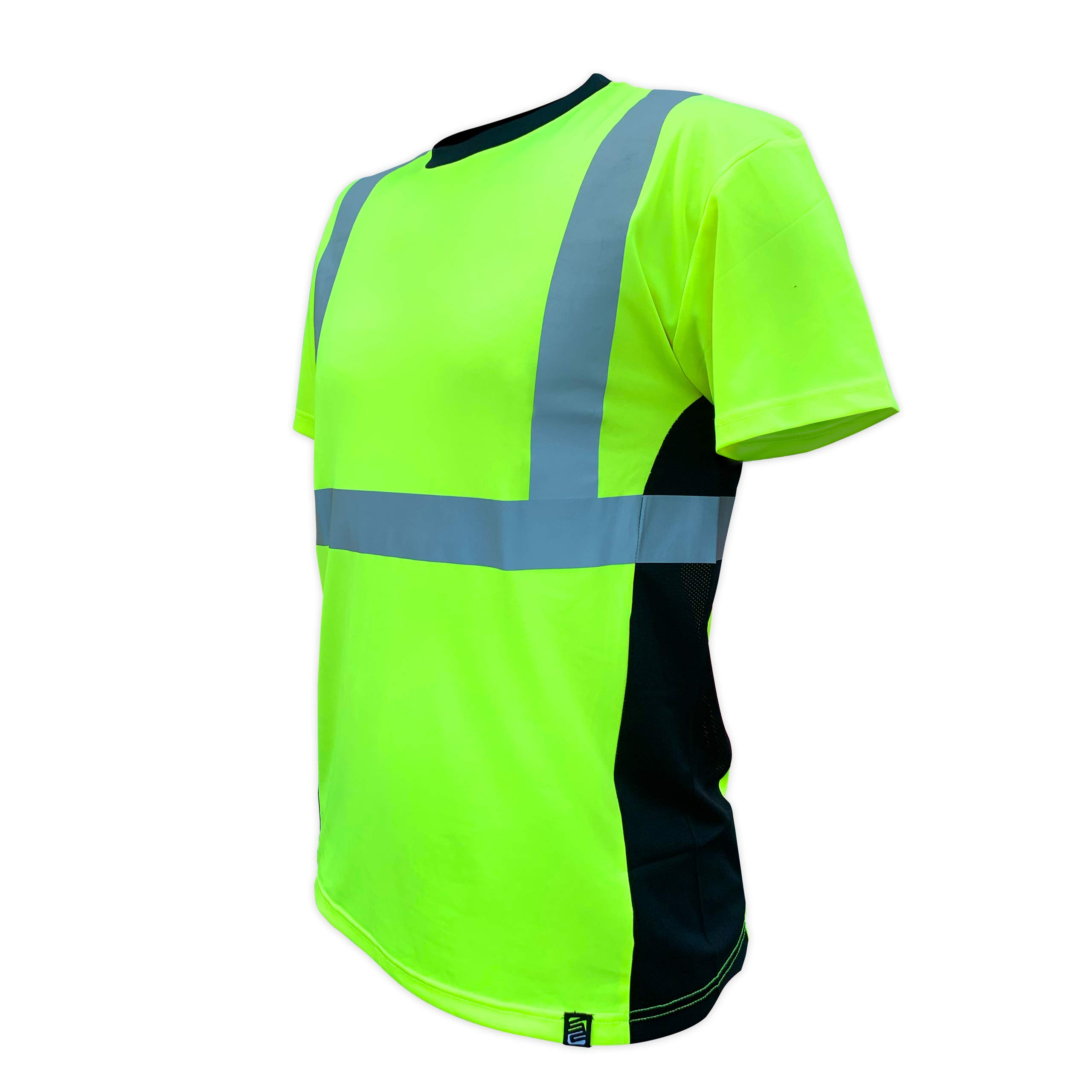 SafetyShirtz SS360 ANSI Class 2 Safety Tee Yellow (Safety Green) w/Vented Sides 4XL by SafetyShirtz