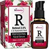 StBotanica Retinol 2.5% + Vitamin E, C & Hyaluronic Acid Professional Facial Serum - 20ml - Anti Aging/Wrinkle Serum, Skin Whitening Serum