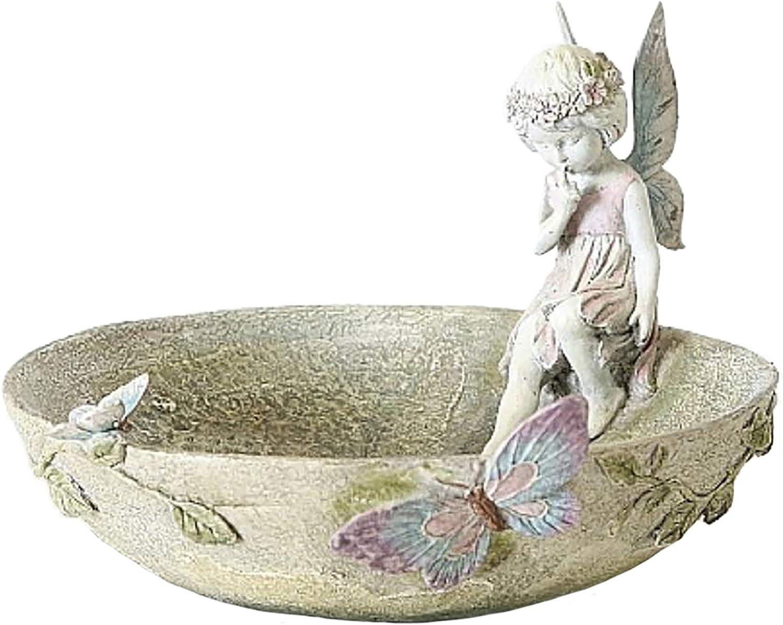 Home Collection Meubles D/écoration Jardin Terrasse Fonta pour Oiseaux Motif Elf e