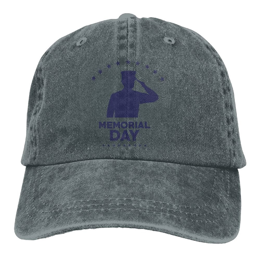 Happy Memorial Day Funny Washed Cap Adjustable Baseball Cap Dads Stetson Hat