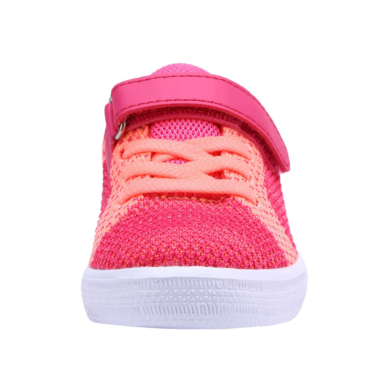 Toddler//Little Kid Zoneyue Girls Low Top Buckled Tennis Skate Shoes Bungee Straps Flat Sneakers