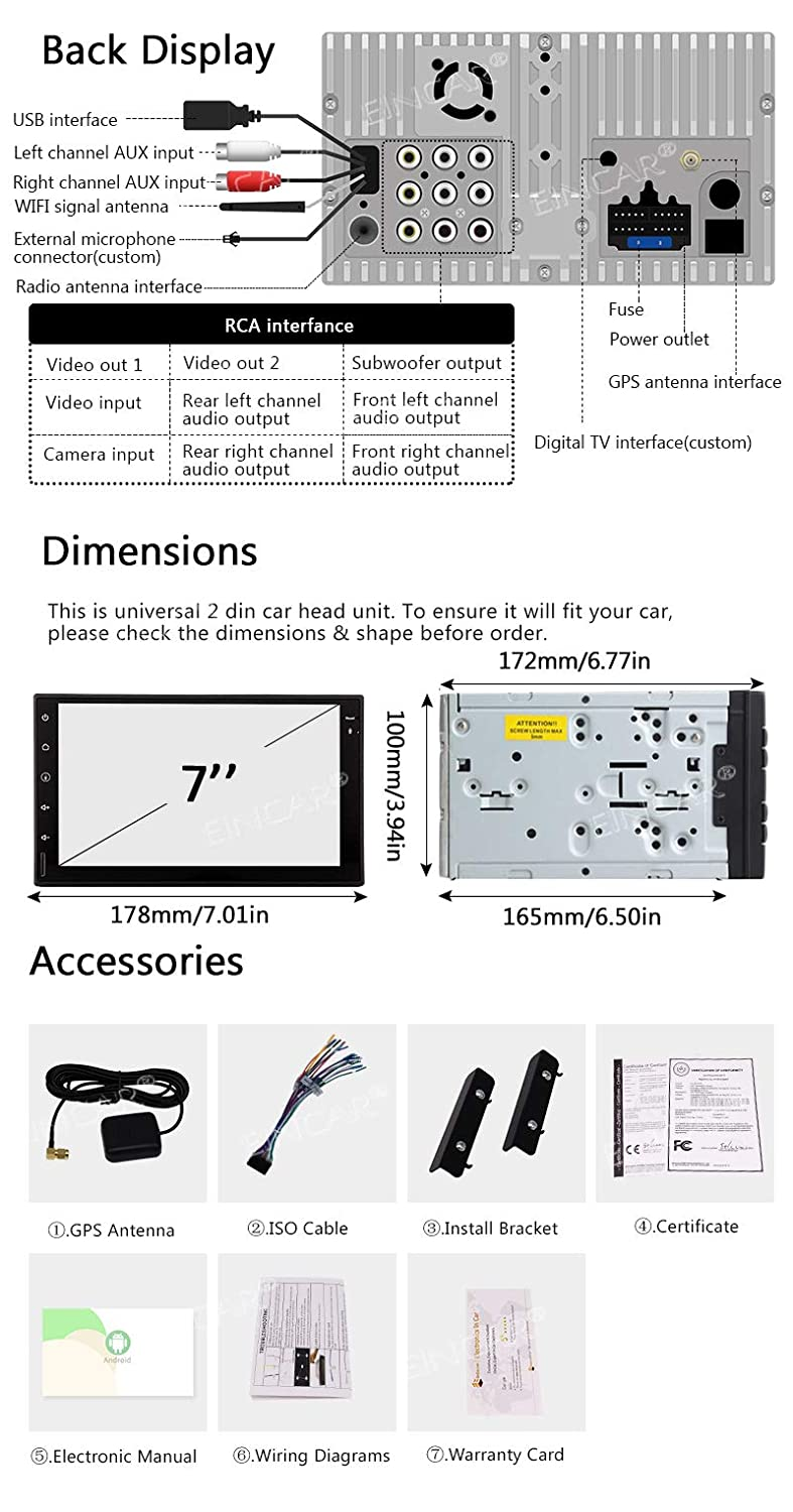 Reverse Backup Camera Car Rear View Reversing Back Up Camera Automotive Universal Car Rearview Camera with 120/°Perfect View Angle and Guildlines,12V only