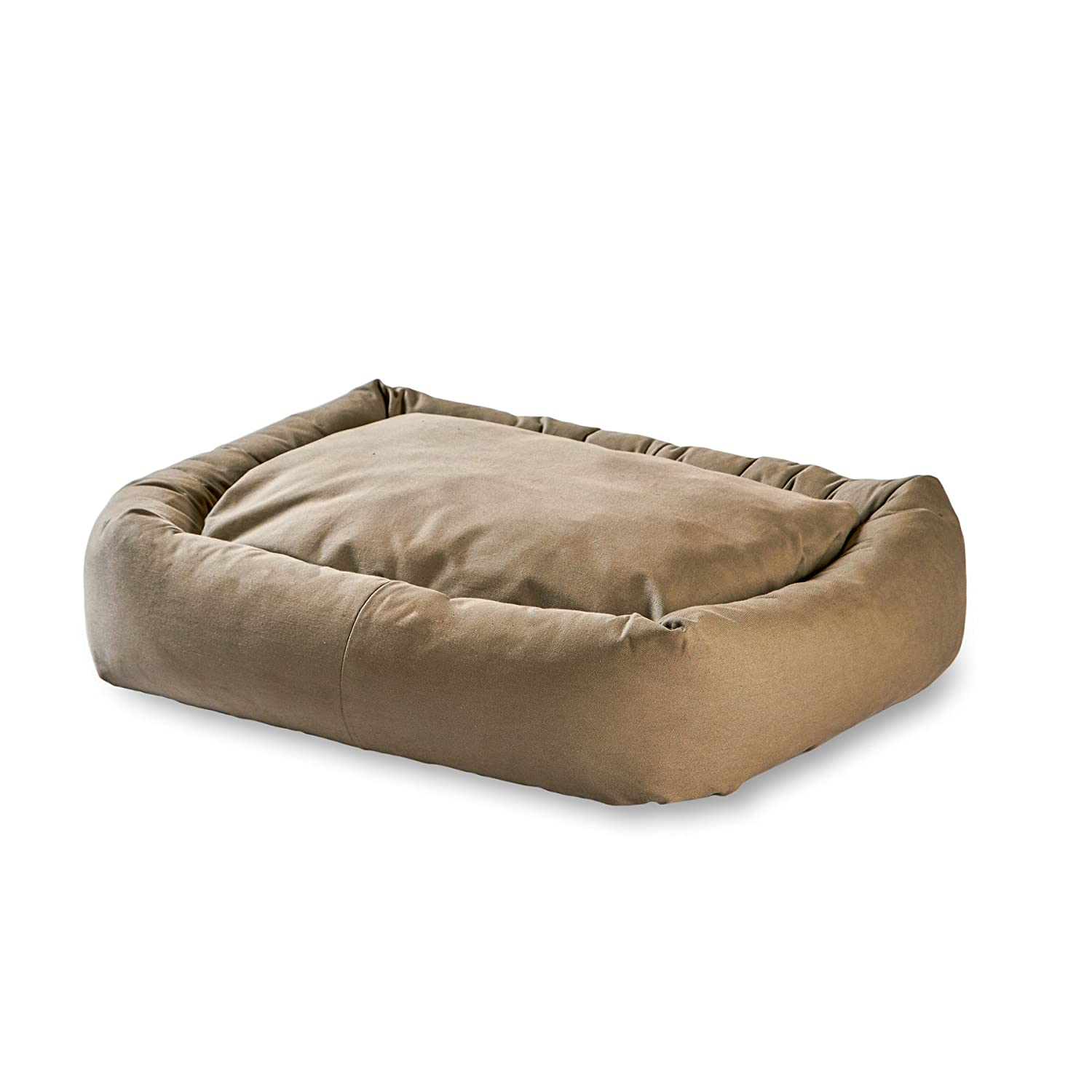 Greystone L XL Greystone L XL Happy Hounds Max Rectangle Indoor Outdoor Bumper Dog Bed, Large X-Large, Greystone